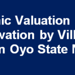 Economic Valuation of Forest Conservation by Villagers in Ibadan Oyo State Nigeria